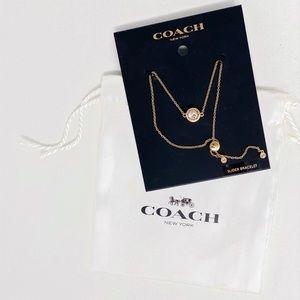 NWT Coach Slider Bracelet Gold